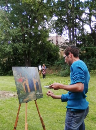 Malování u hořovického zámku