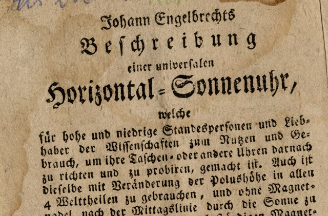 Johann Engelbrechts Beschreibung