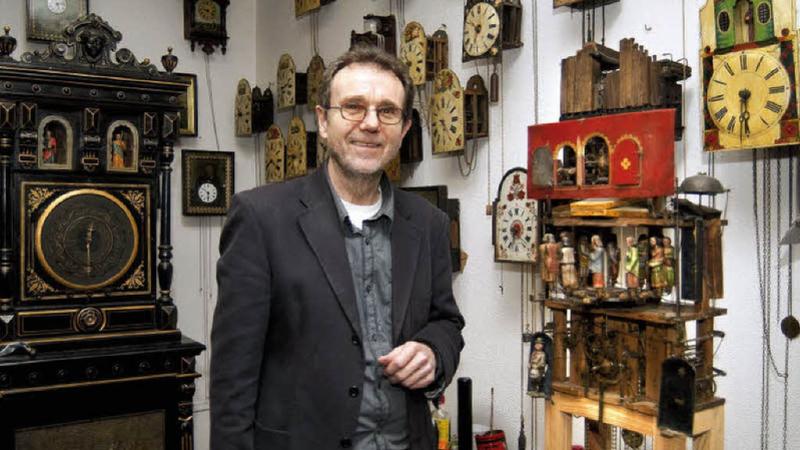 Miloš Klikar se svou sbírkou