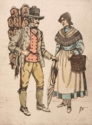 Schwarzwaldský prodejce hodin