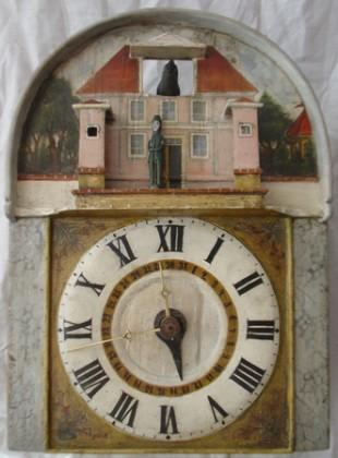 Píšťalové hodiny s vojákem na vartě a kukačkou
