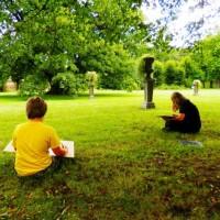 Kresba v zámeckém parku