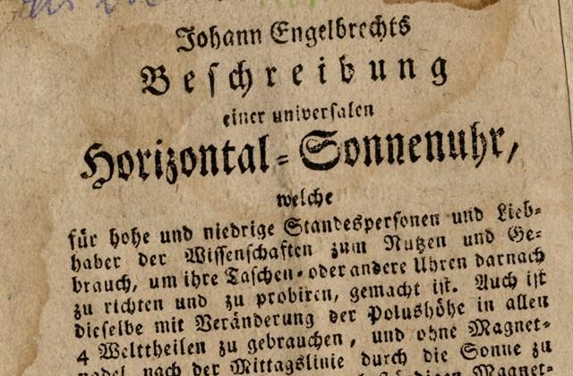 Manual for sundials by Johann Engelbrecht
