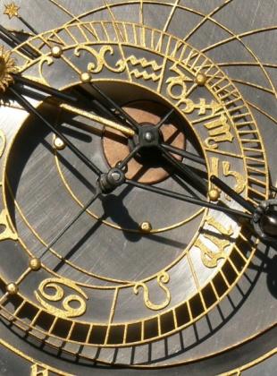 Detail orloje v Kadani