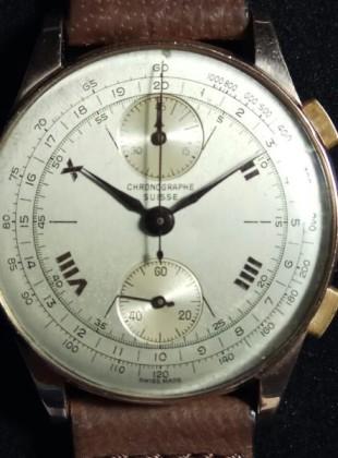 Gold Chronograph Suisse 18K 1500eur