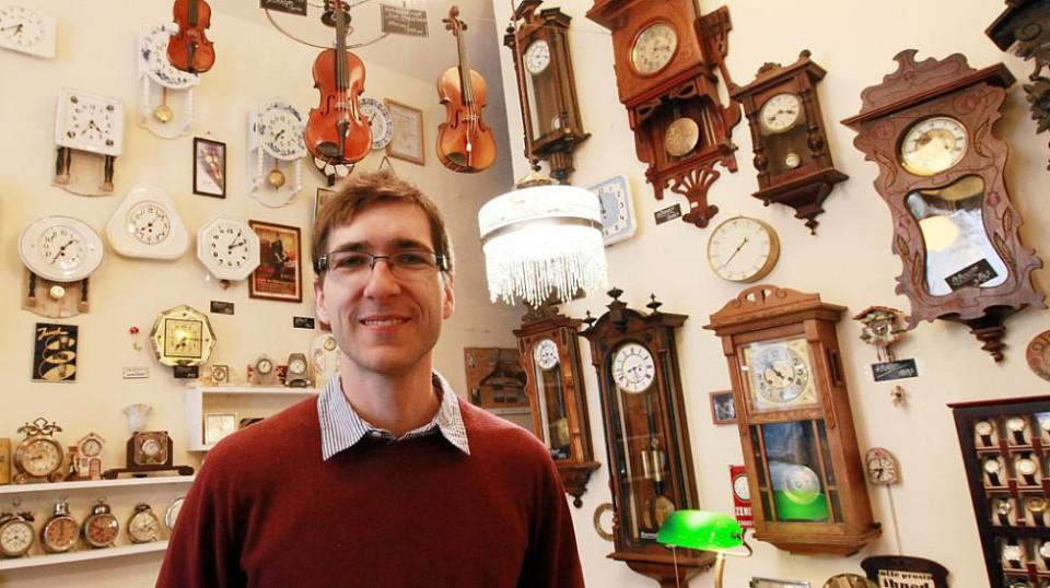 Patrik Pařízek v Old Clocks v Maiselově ulici