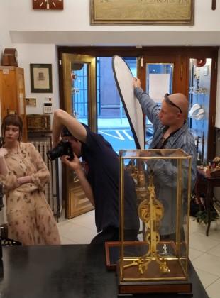 Filmování v Clock gallery